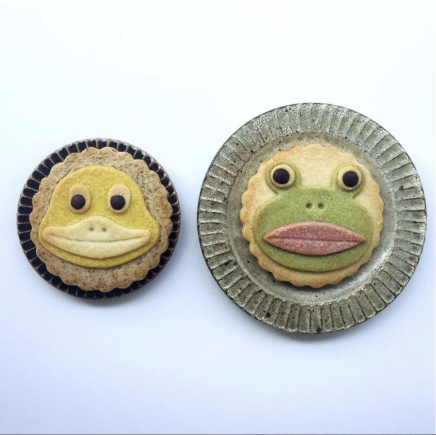 おやゆび姫 frog cookie