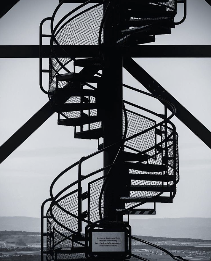 Black Industrial Spiral Staircases