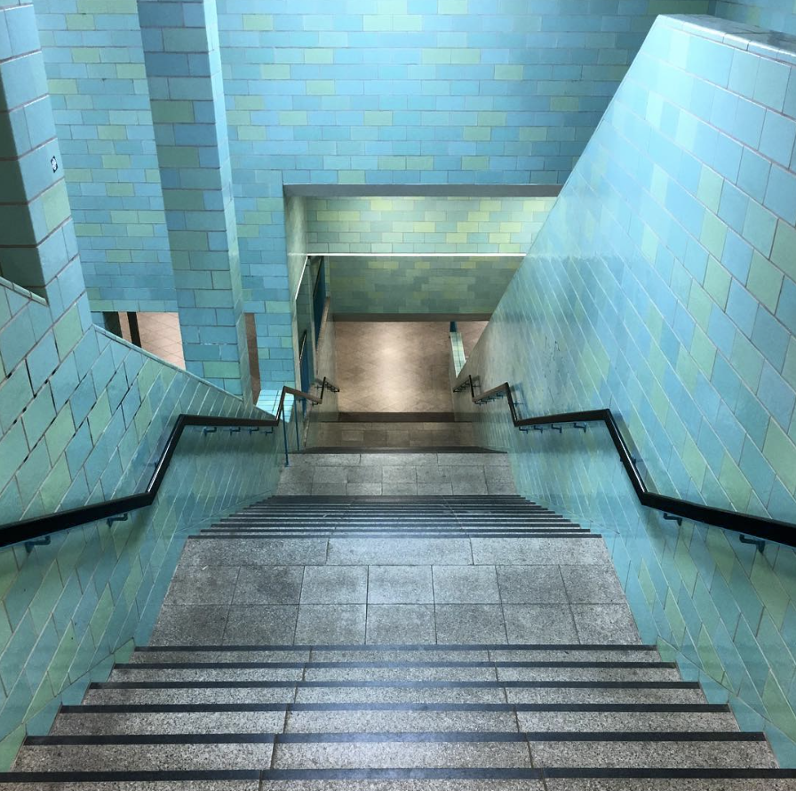Turquoise Blue Staircases In Berlin