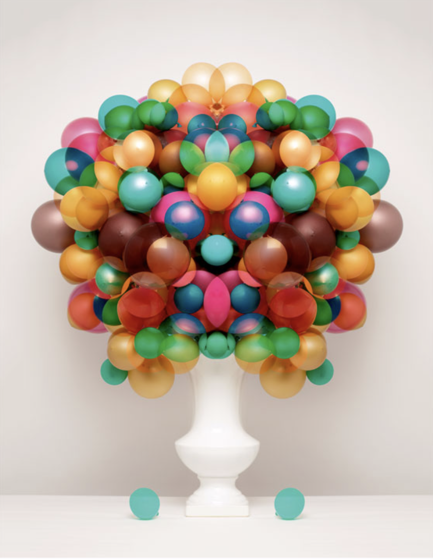 bubblegum balloon flower arrangement Sarah Illenberger