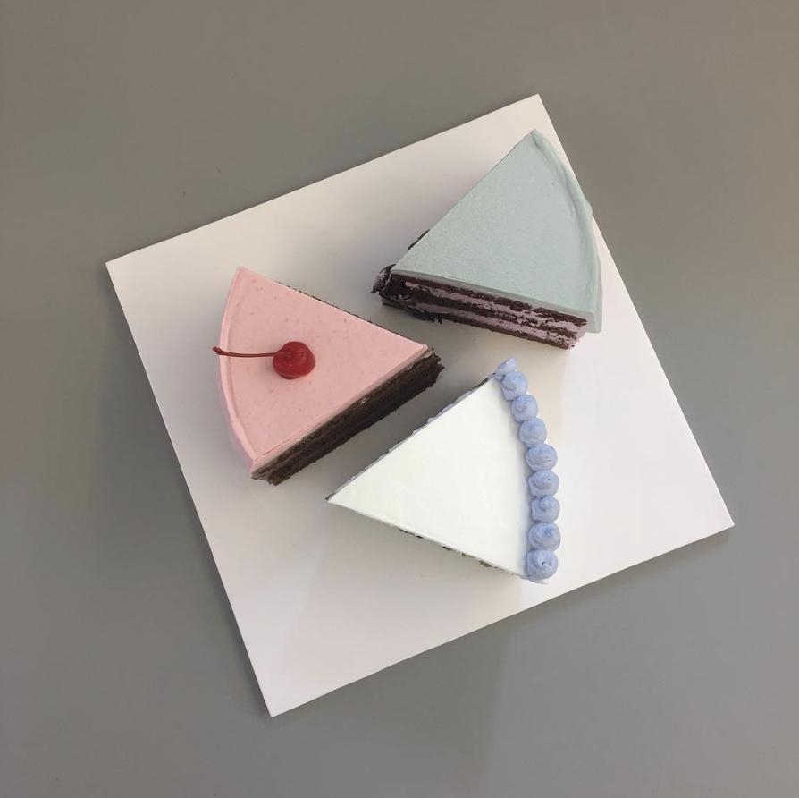cute cake in a plate