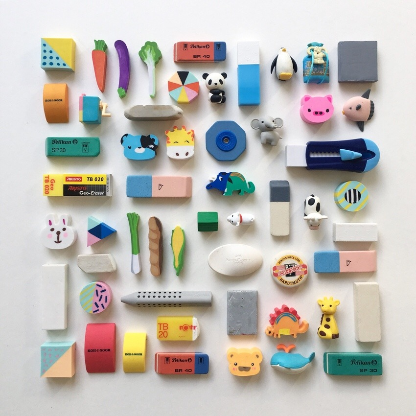 kawaii pencil eraser collection