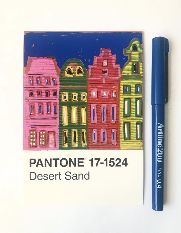 pantone desert sand illustration amsterdam cityscapes project