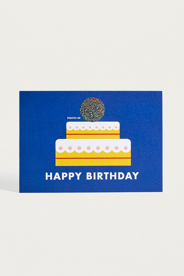 Birthday Cake Scratch off Greeting Card