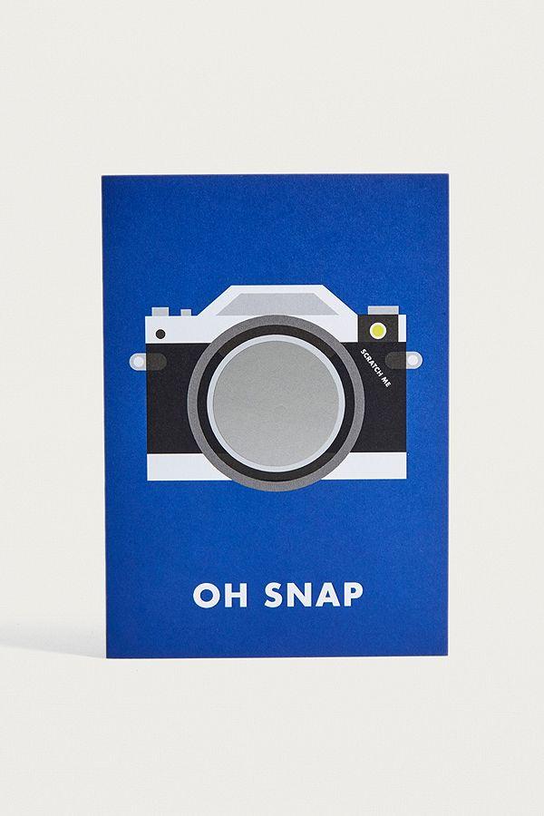 Funny Oh Snap Camera Greeting Card