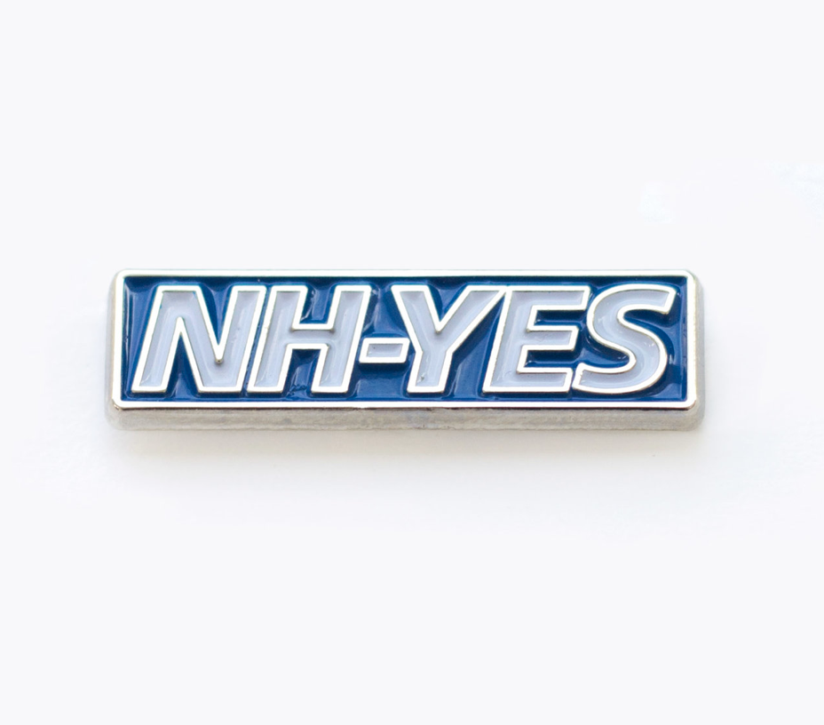 Enamel Pin Blue NH-YES Carl Godfrey.png