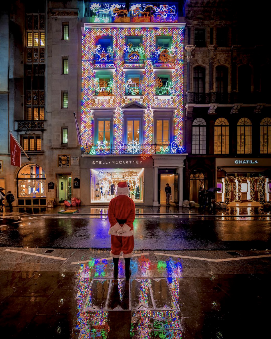 Stella McCartney Bond Street Christmas Windows with Santa