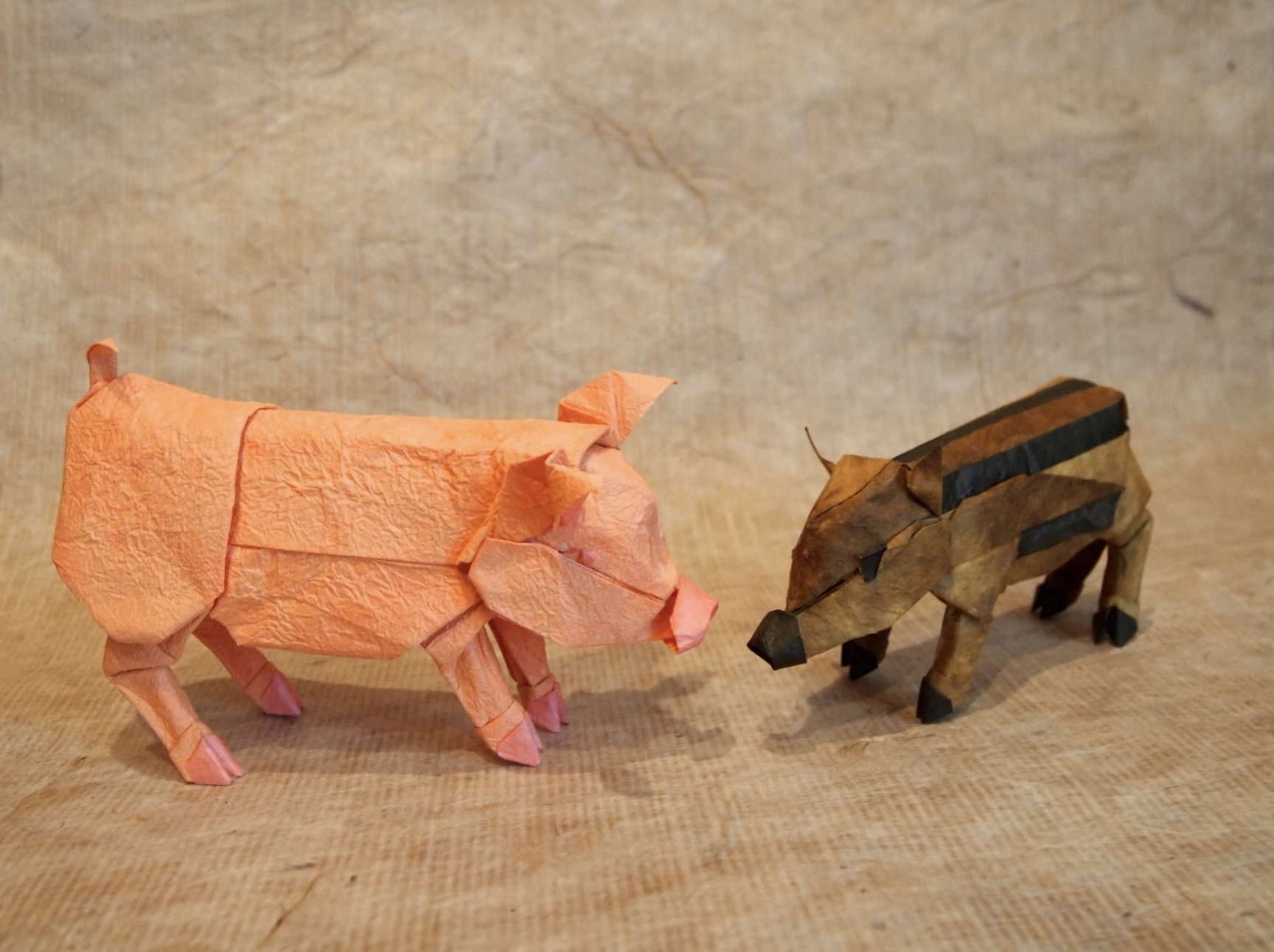 pig and wild boar paper origami