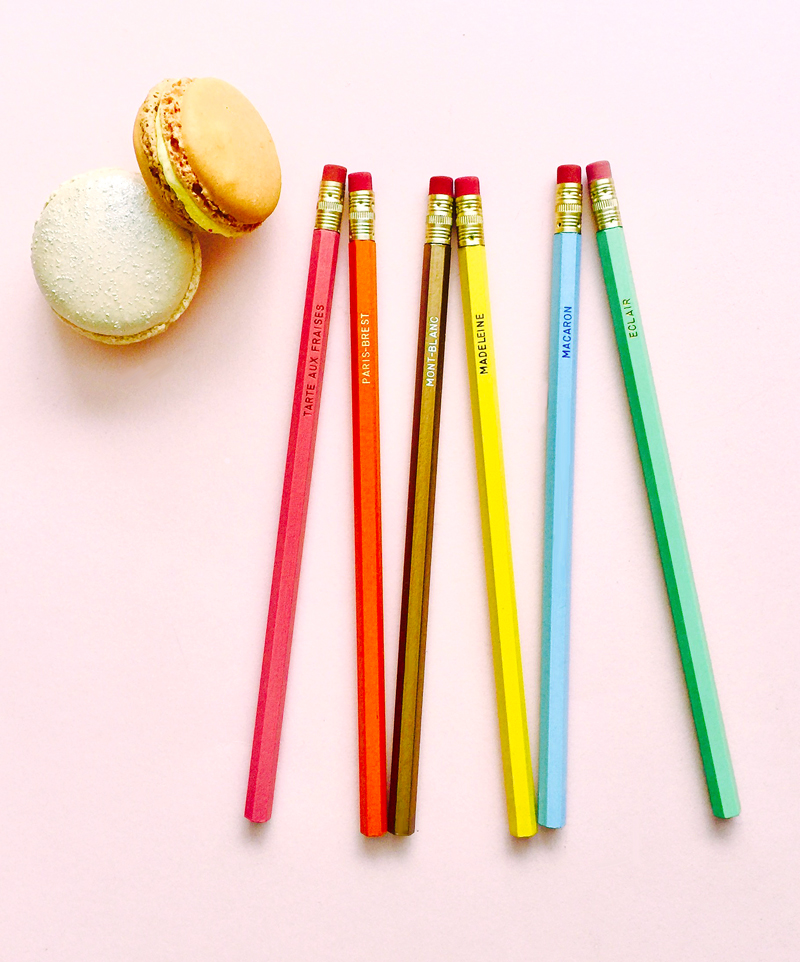 Le Bon Marché Paris limited edition patisserie pencils