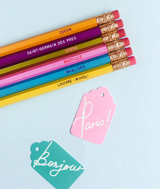 Le Bon Marché Paris limited edition Paris Metro stations pencils