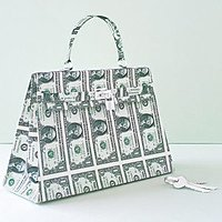 Hermès Kelly Bag In Paper US Dollar Bills