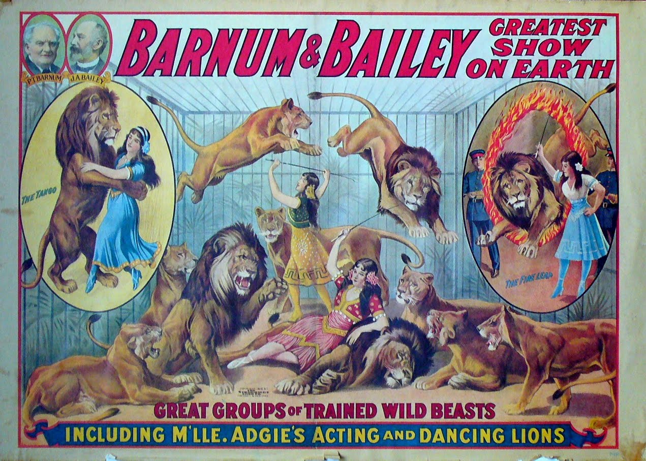 Barnum and Bailey Greatest Show on Earth Circus Poster