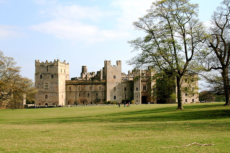 A view of Raby Castle from the grounds