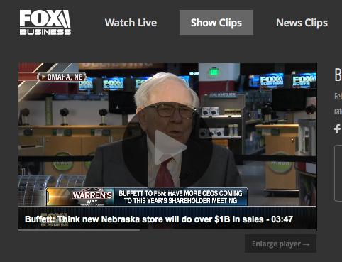 Warren Buffet thinks the Dallas NFM will do $1M in sales