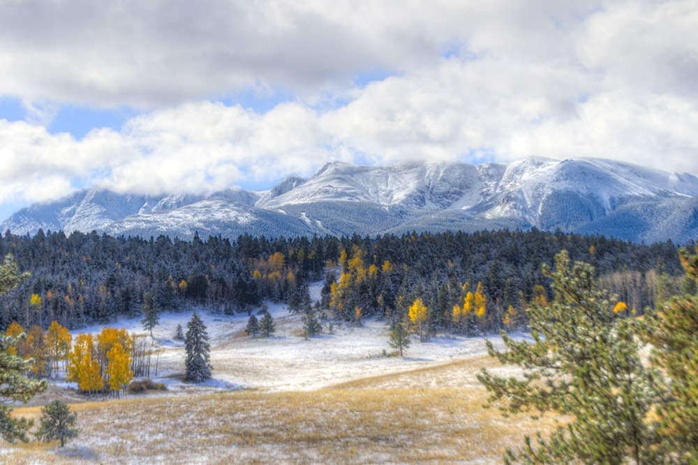 Pikes Peak in First Snow