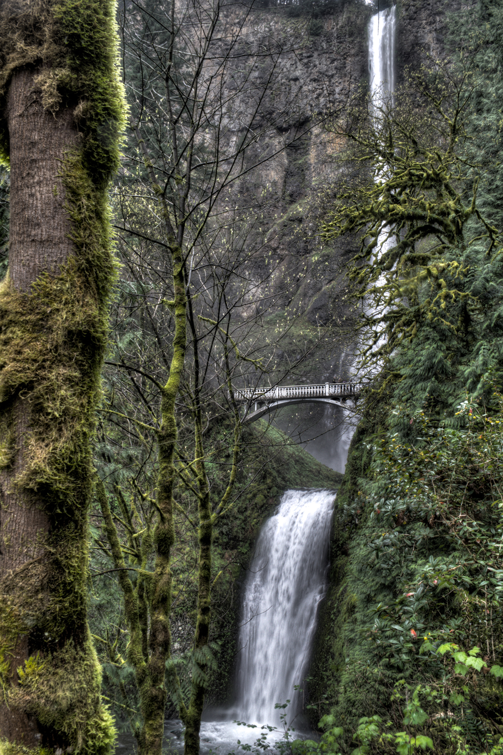 Multnomah Falls from Right