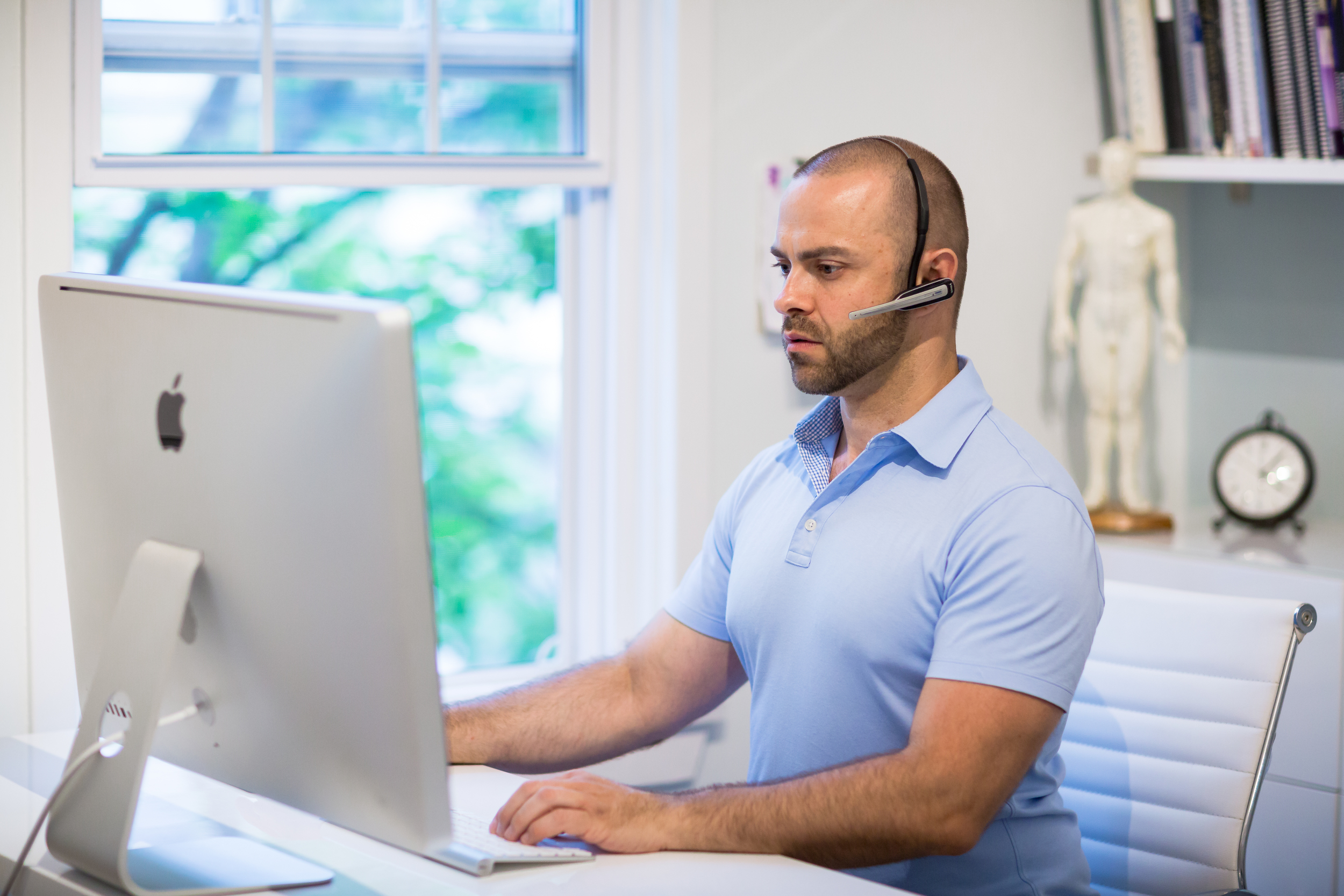 DO:  When working at your desk, use a hands free head set if talking on the phone for any longer than a few minutes. There are a lot of products that attache onto various phone devices. If you need a recommendation,  contact me.