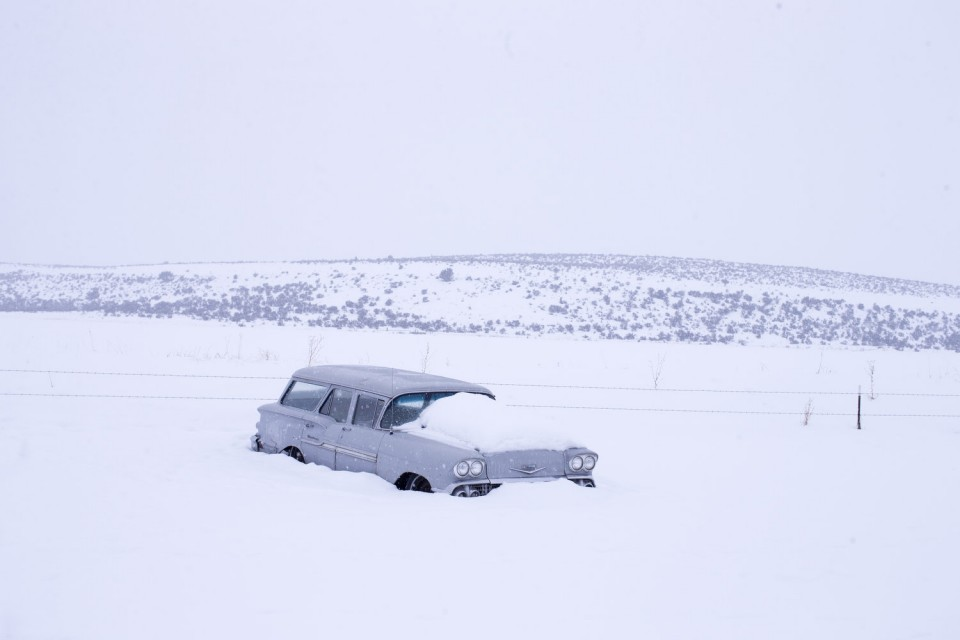 Photo: Beth Nakamura,  The Oregonian .Just before the entrance to the Burns Paiute Tribe.