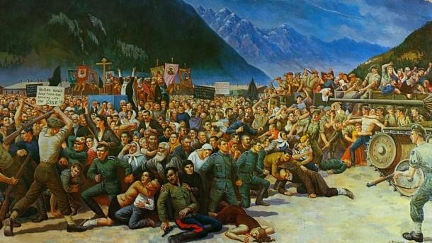Betrayal of the Cossacks at Lienz, 1945. Artist: S.G. Korolkoff (Faz.net)