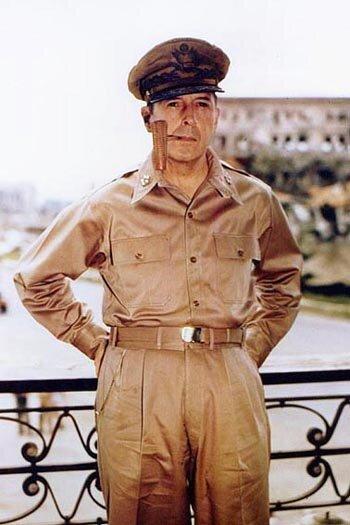 Gen. Douglas MacArthur in the PHillipines, 1945 (Photo: US Navy)