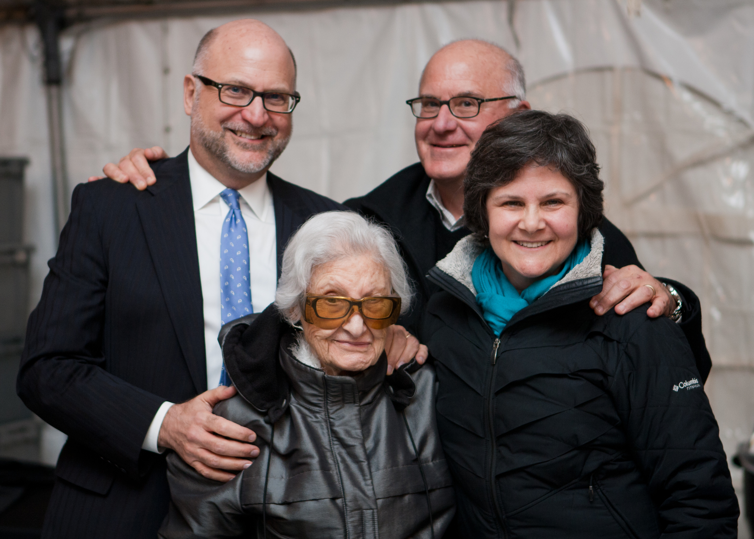 Mark, Chris, Co-founder Amelia Wilhelm, Cynthia (pictured left to right)with their mother after announcing the donation on Saturday, April 30th.
