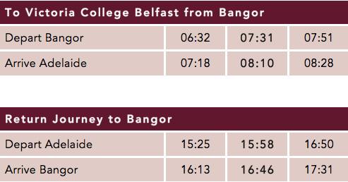 Bangor Timetable