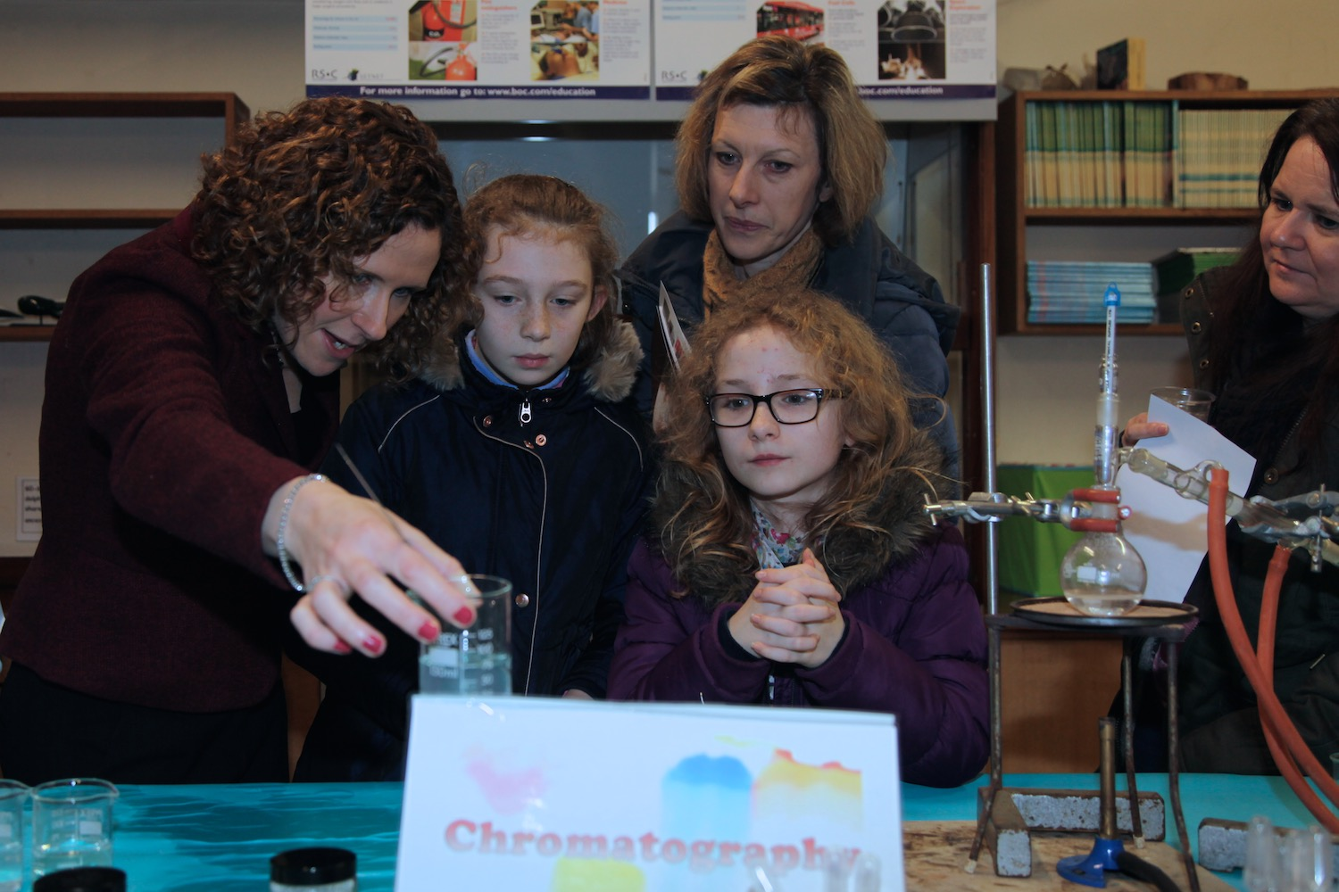 Science experiments on Open Day