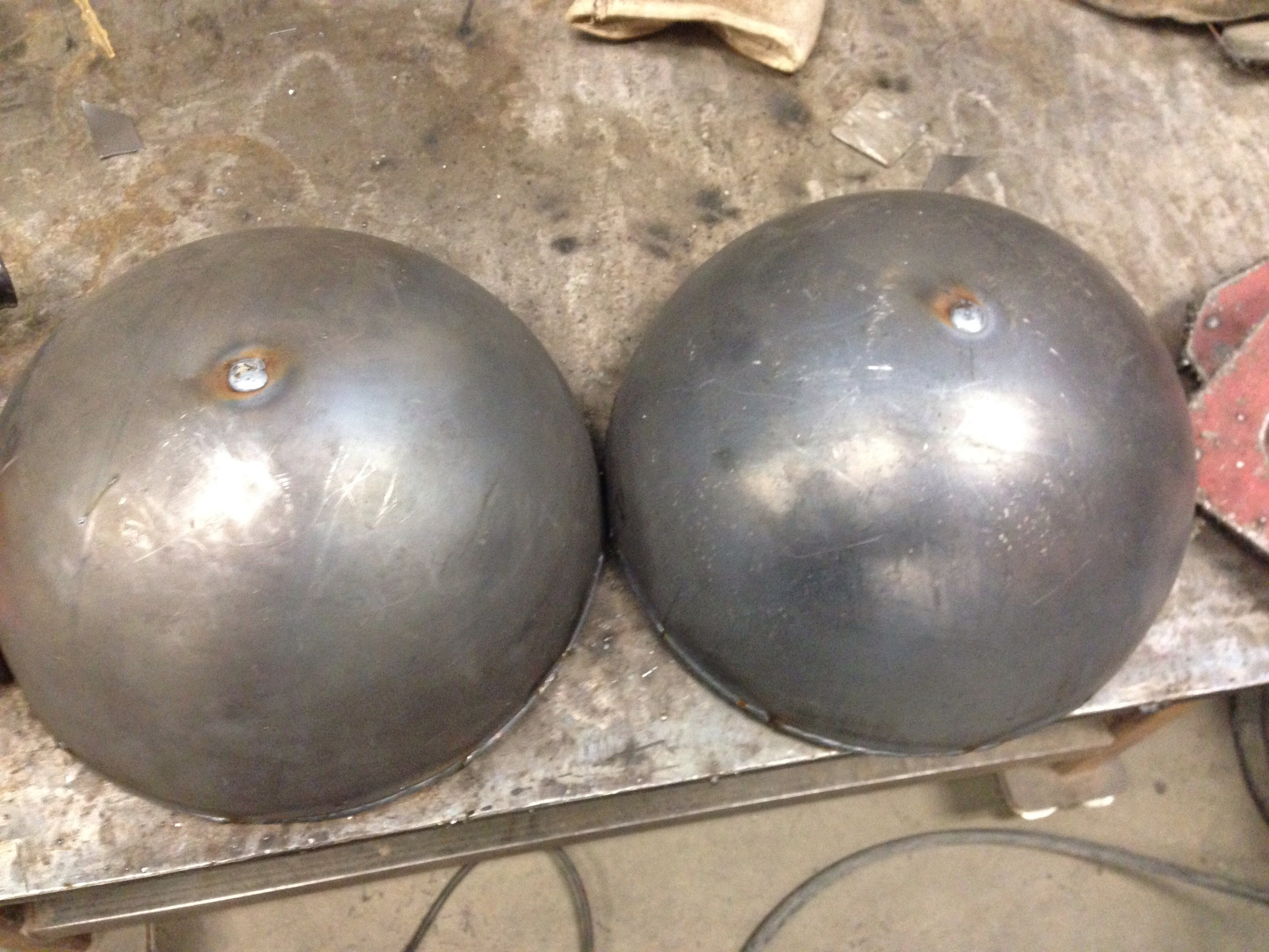 Yeah yeah, my wife already told me they look like boobs. I had to weld up the holes in hemispheres so water doesn't get into them.