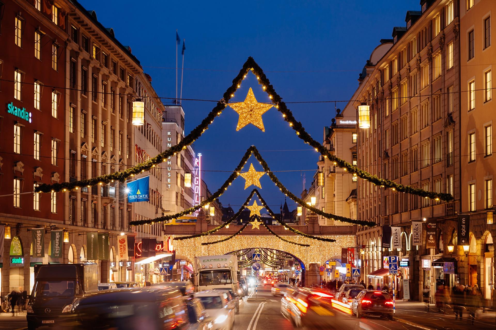 Kungsgatan med julbelysning. Foto: Mikael Sjöberg