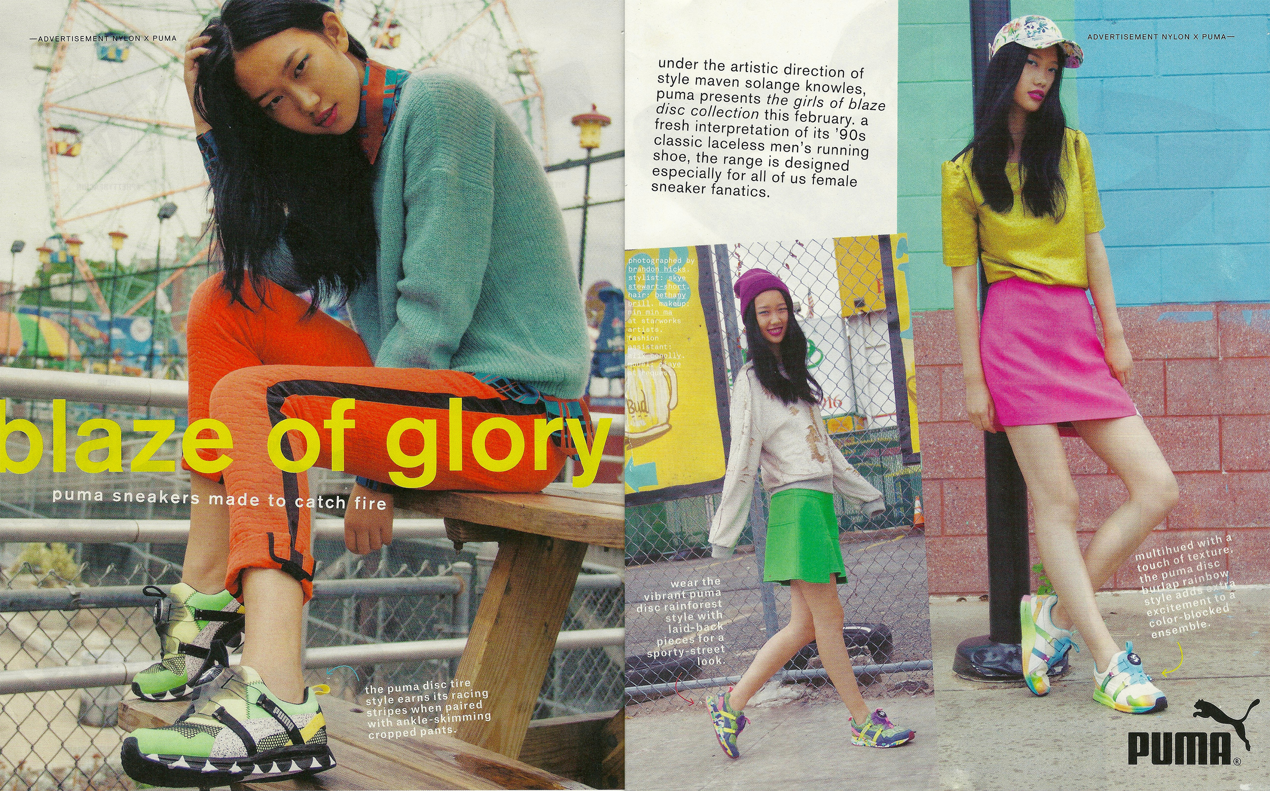 "Puma ""Girls of Blaze"" Ad for Nylon Magazine, 2013 / Creative Direction: Solange Knowles"