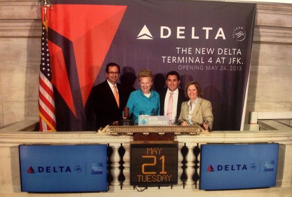 2Here is a photo Dan Beschloss, Valerie Ann Wilson, Delta's Jonathan DeCesare, Senior Sales Account Executive New York Sales and Mimi McGuire at the New York Stock Exchange Closing Bell ceremony.jpg