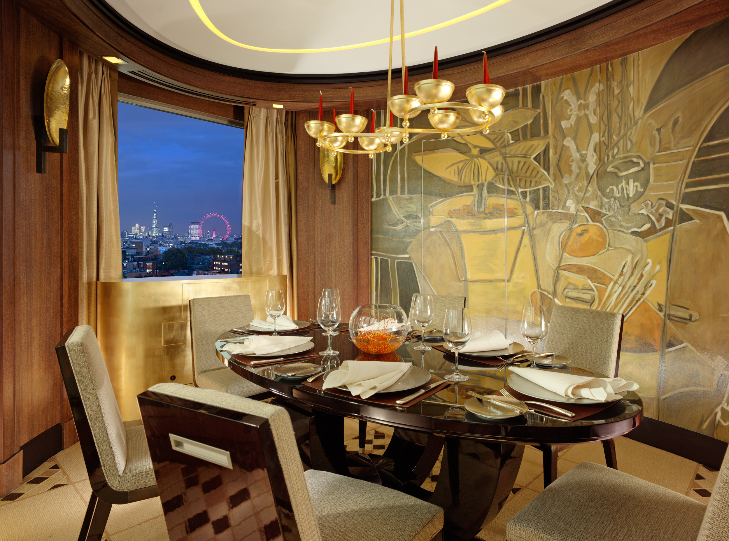 Penthouse, Dining Room table set - 45 Park Lane 1196-2a.jpg