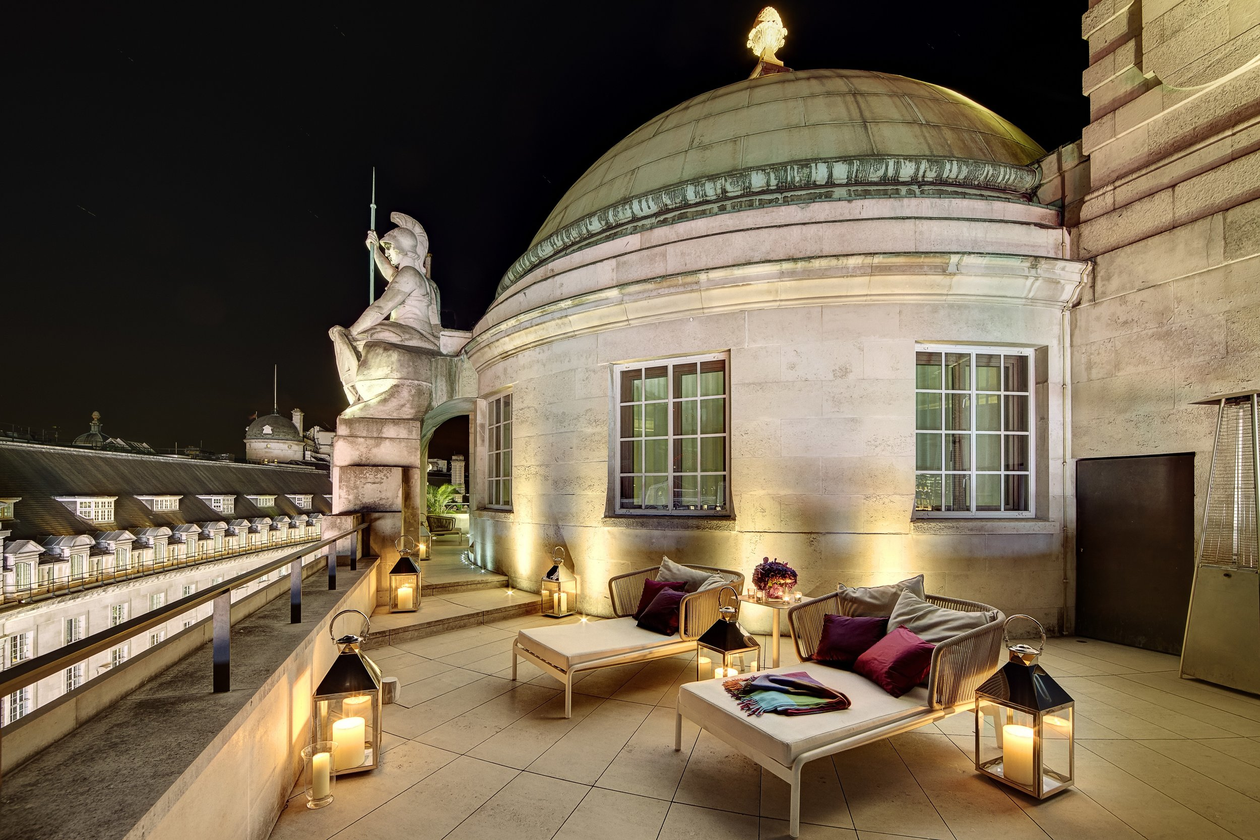 Hotel Cafe Royal - Dome Penthouse - Terrace at Night 1.jpg