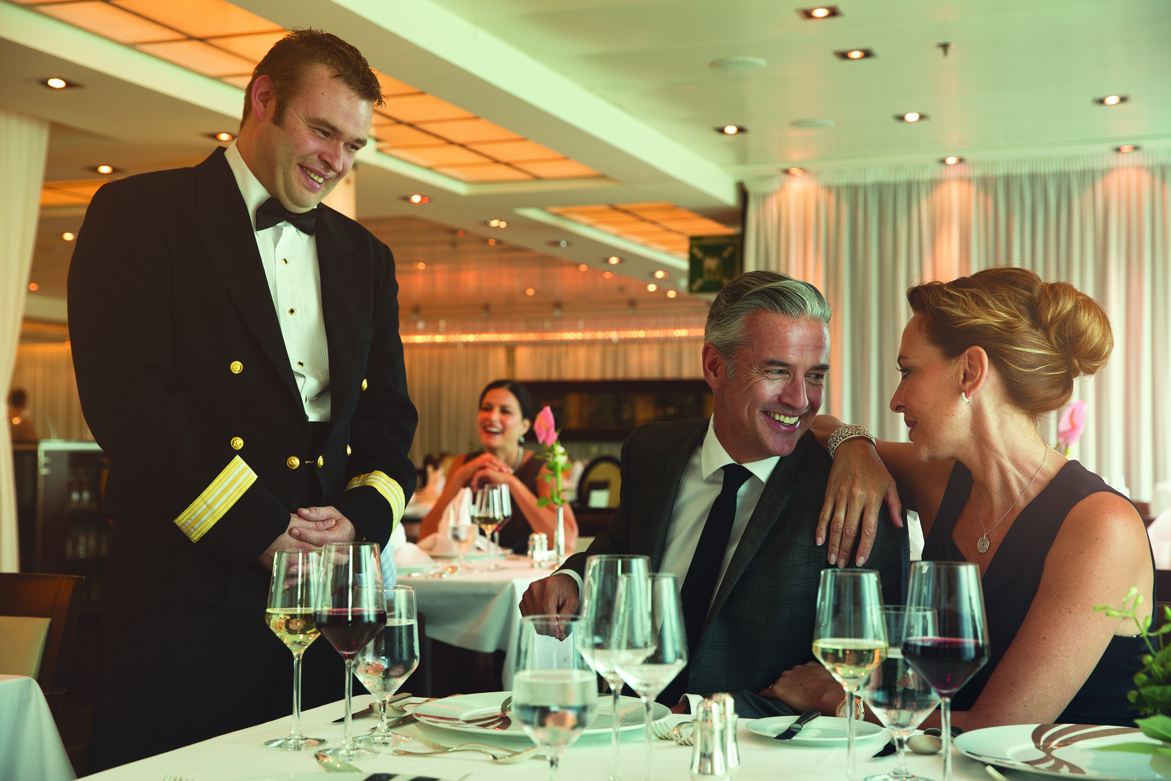 Seaborn - Culinary - Officer With Couple - Main Dining - The Restaurant.jpg