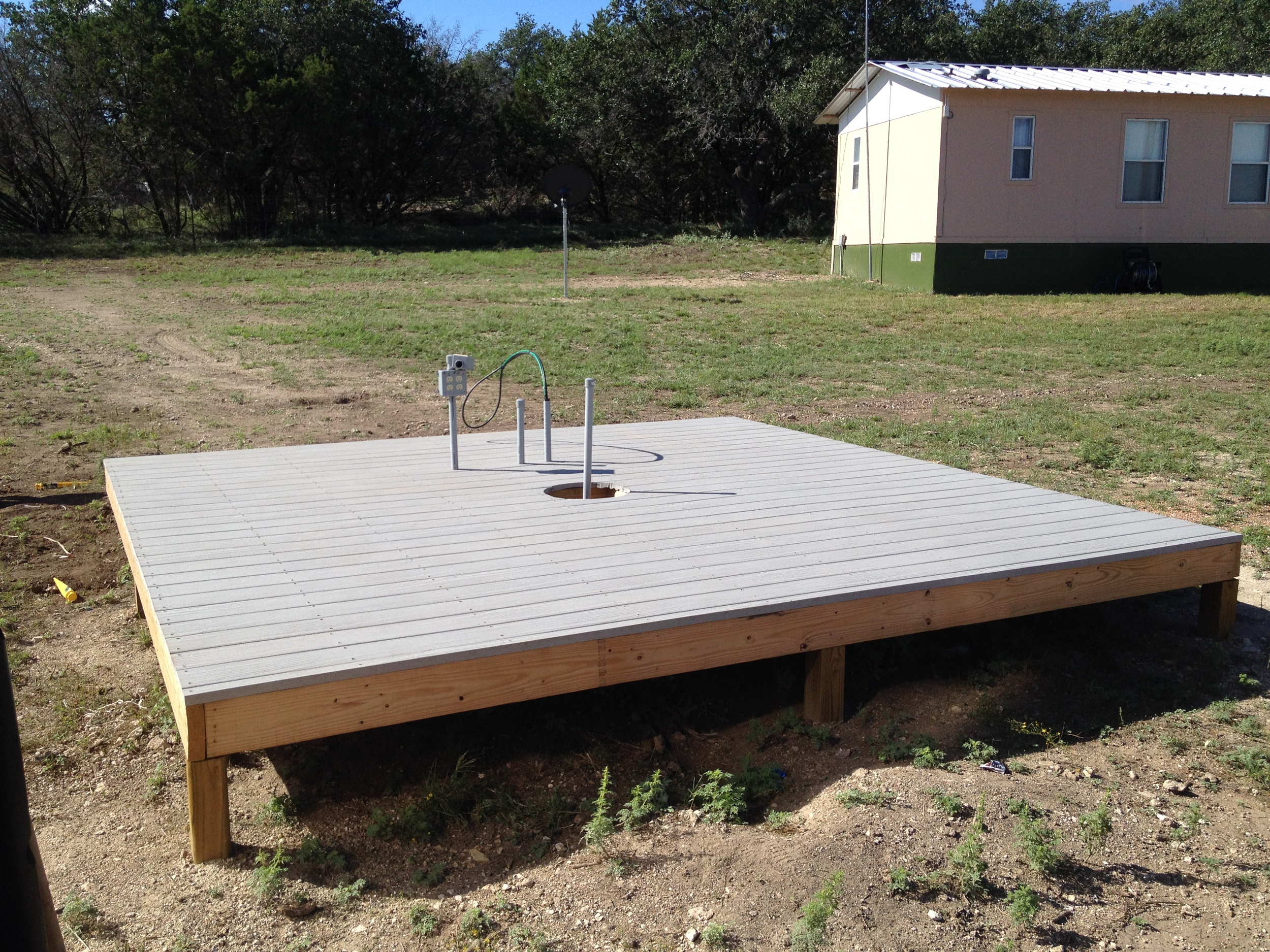 Deck ready for observatory.