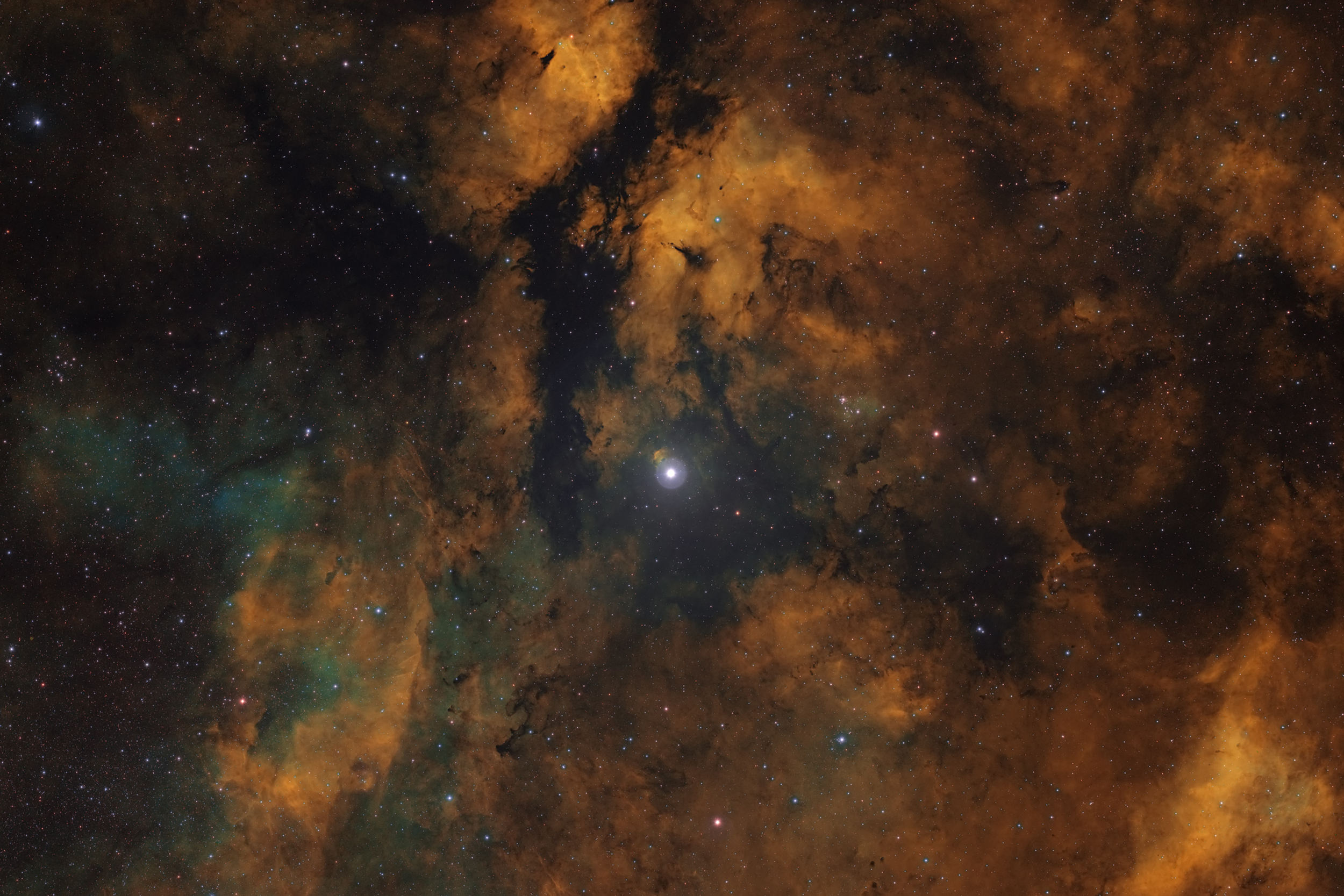 SH2-108 in the HST palette.