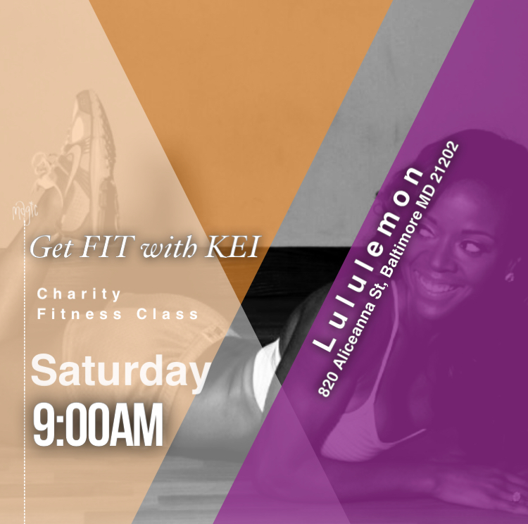 GET Fit with KEI   If your looking for plans this Memorial Day weekend, then look no further.   The GET FIT with KEI charity event is this Saturday May 26th 2018 at 9:00am.