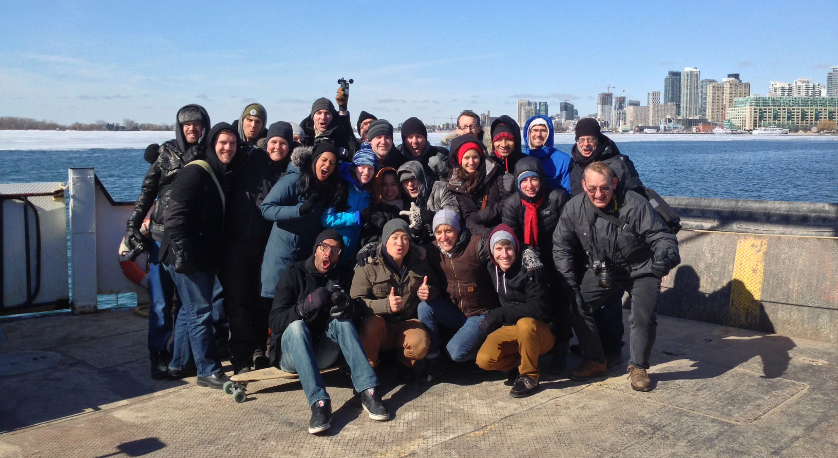 Our shoot day crew at the Toronto Island Ferry Docks.