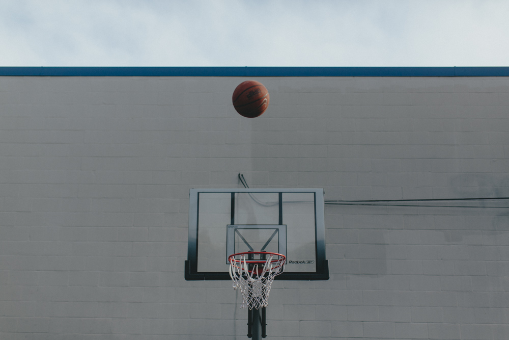 Behind the Story & Heart studio, basketball is literally in the air.