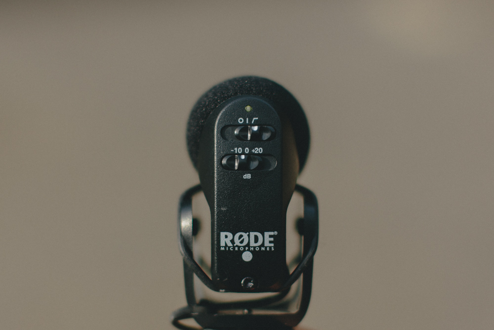 The rumble filter is that skate-ramp-looking thing on the back of the mic (below the on/off switch on this  RODE VideoMic Pro ).