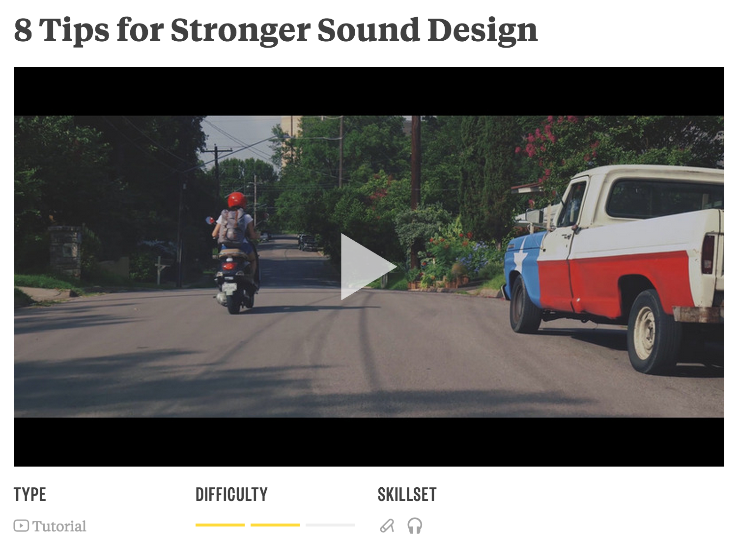Learn sound design (and much more) from Joe Simon in the Academy of Storytellers.