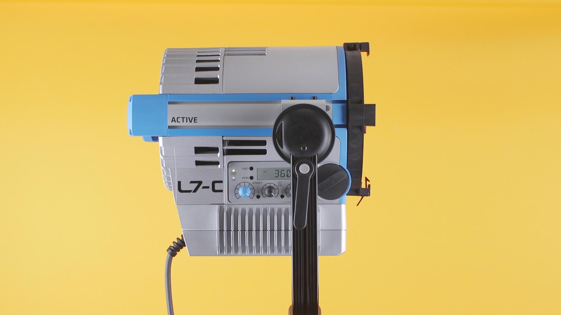 Main Arri L7-C's controls and dials.