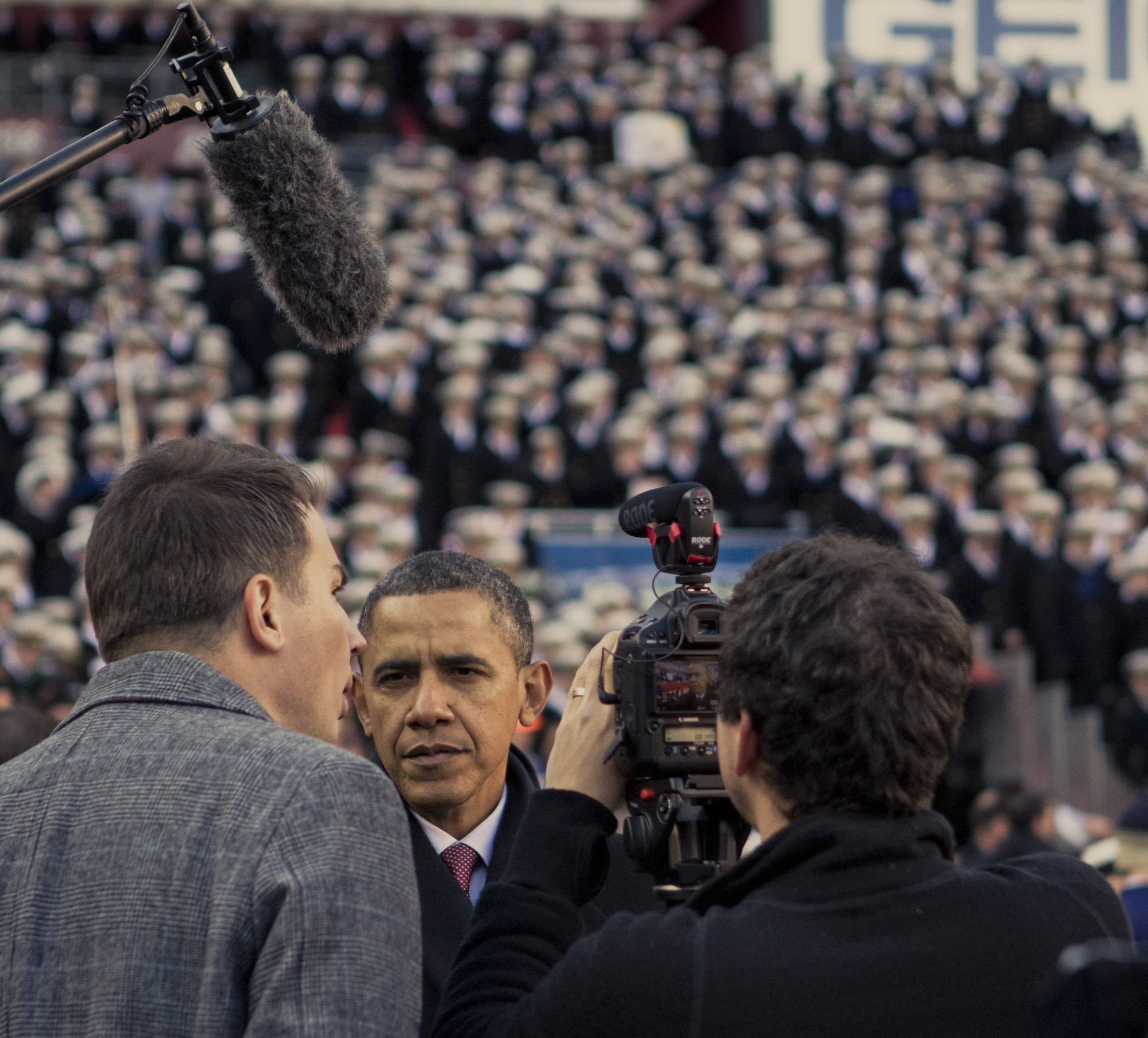 Interviewing President Obama with 30 seconds of prep and no lights was a challenge that led to growth.