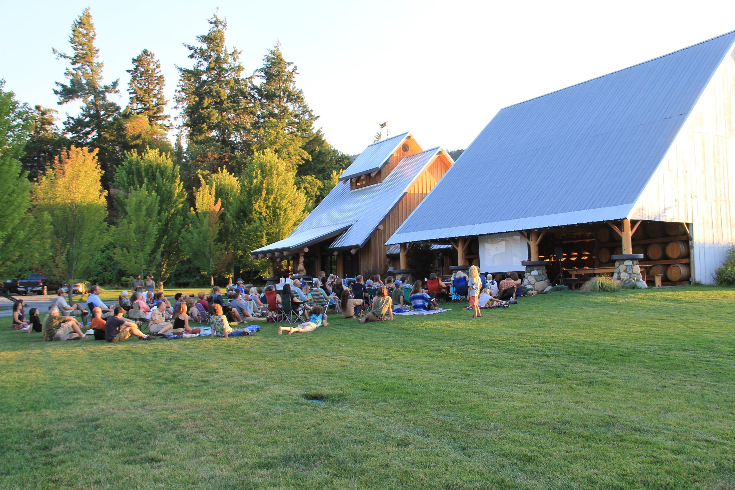 An outdoor screening