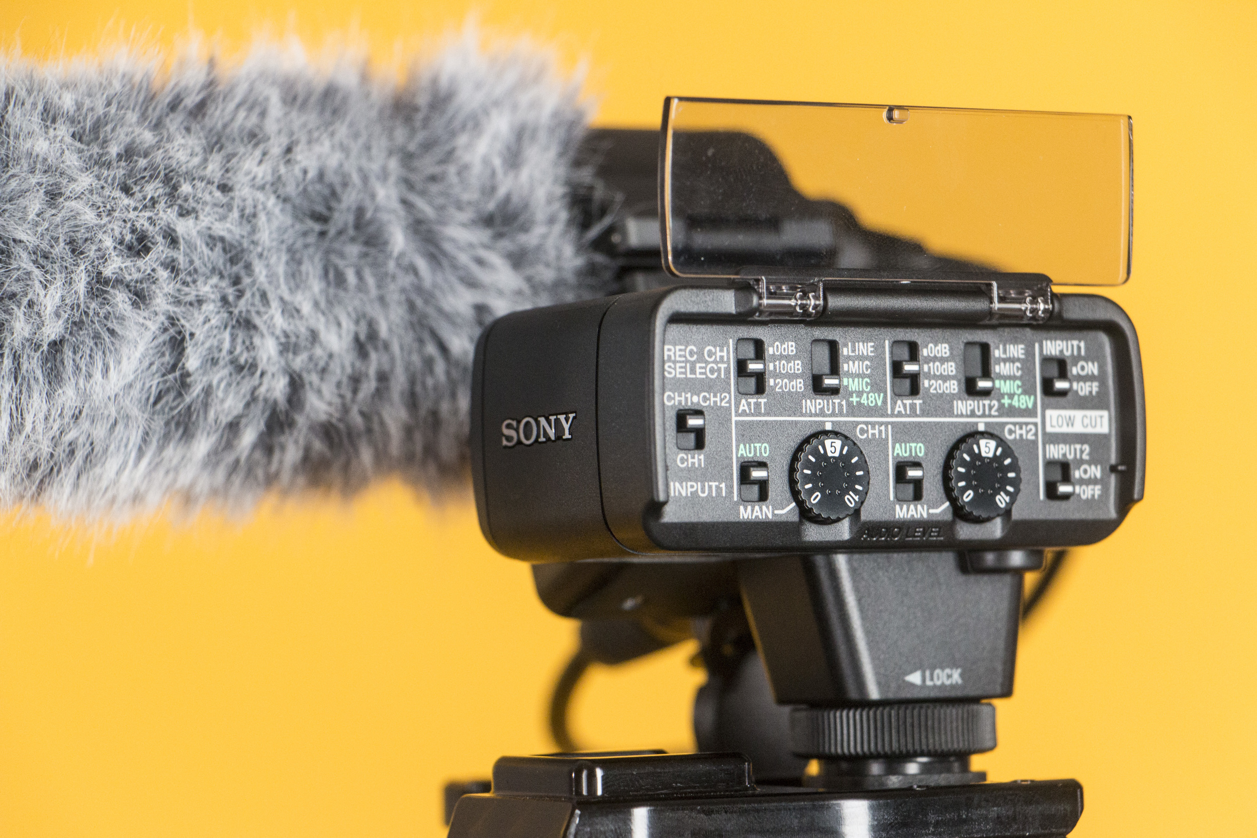 Sound module with audio settings on the Sony XLR K2M