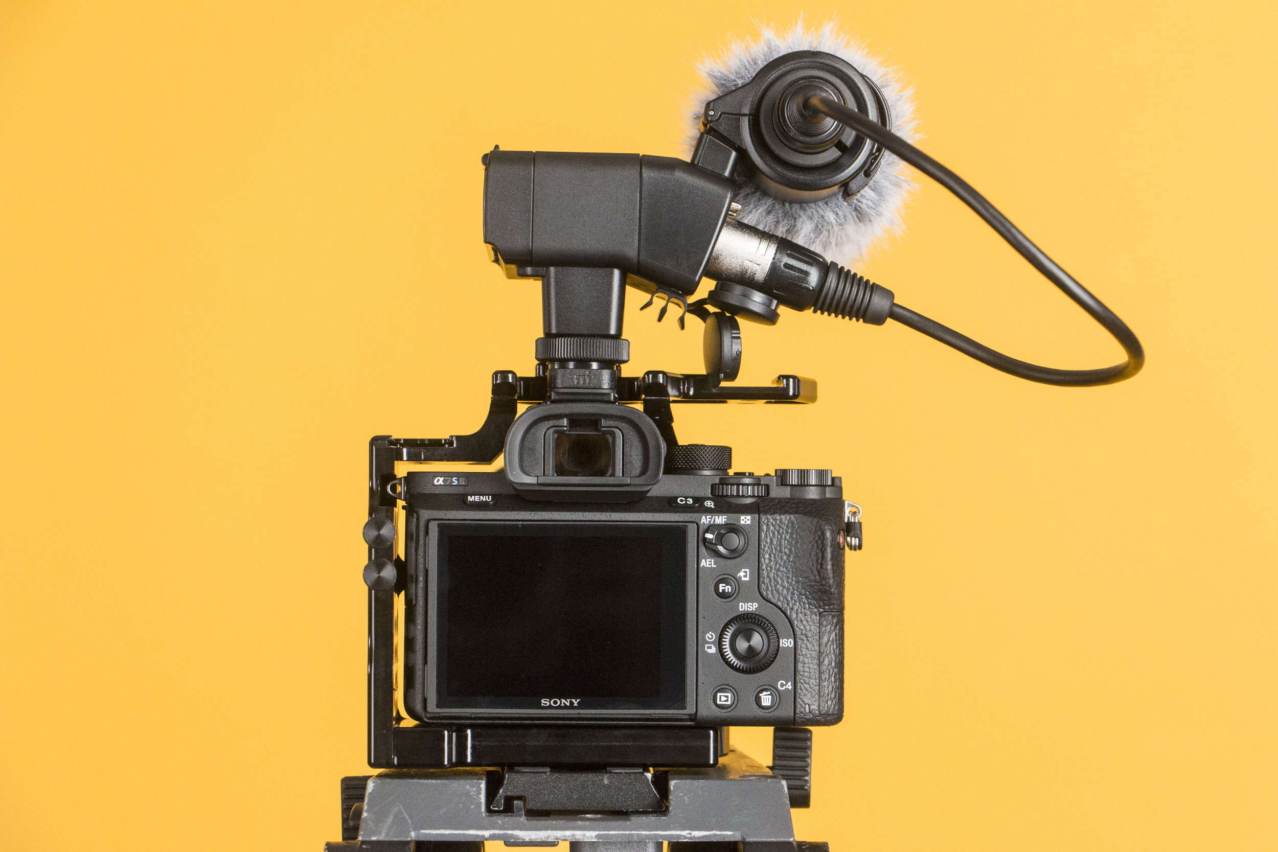 The Sony XLR K2M mounts directly to a hot shoe