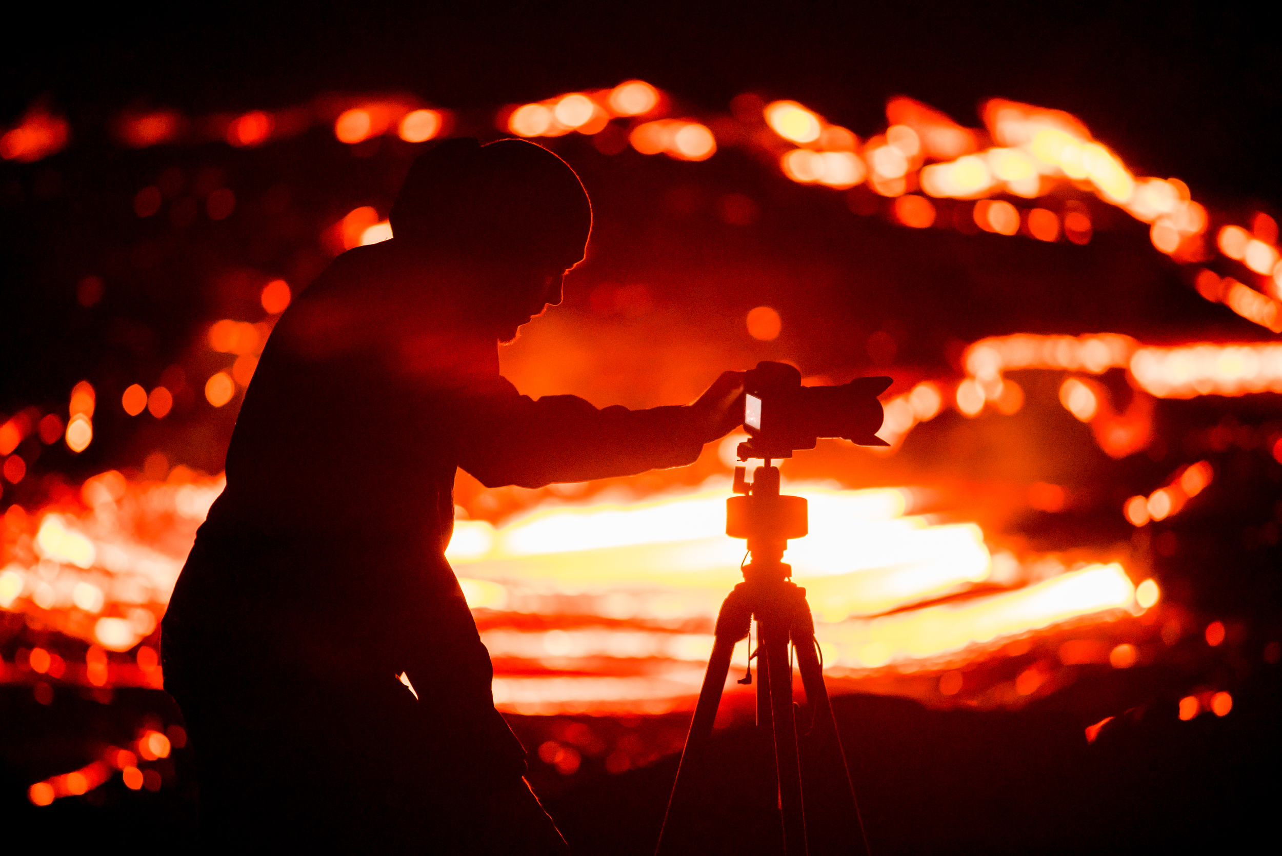 Tyler filming lava