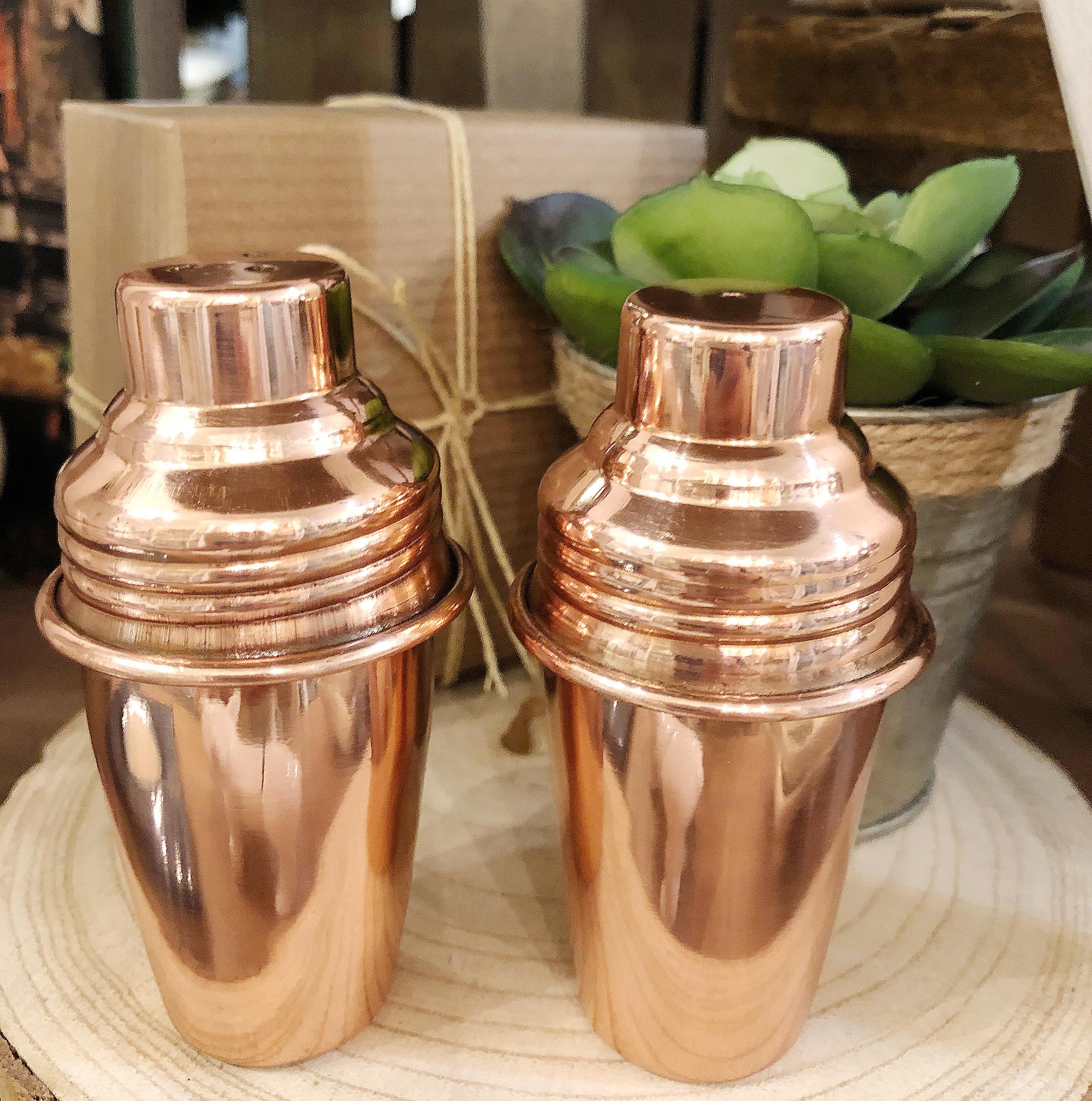 Mini Salt Pepper Shakers With Copper Finish Recreateu