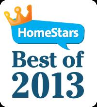 HomeStars Best of 2013 logo