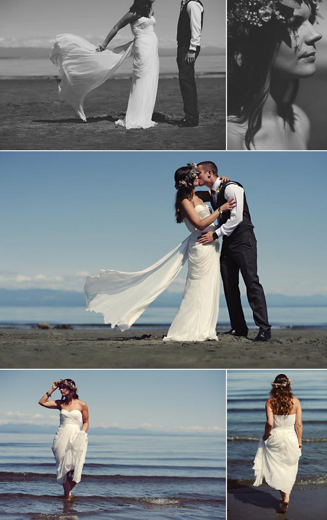 bride groom beach wedding